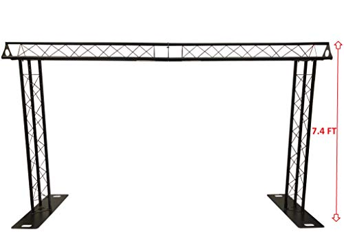 BLACK TRUSS ARCH KIT 13.2 FT Width Mobile Portable DJ Lighting System Metal Arch