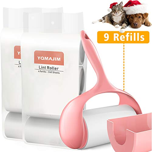 Lint Rollers, 9 Lint Roller Refills Extra Sticky Lint Roller Pet Hair Remover for Clothes Very Strong Lint Rollers for Pet Hair, Best Pet Lint Rollers Tape Roller Lint Roller for Clothes