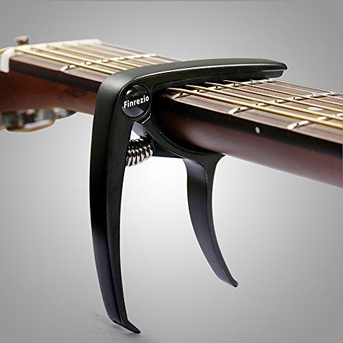 Finrezio 3 Pcs Classical Guitar Capos with 8 Pcs Guitar Picks for Acoustic Guitar (3 Colors a set) by Finrezio (Image #2)