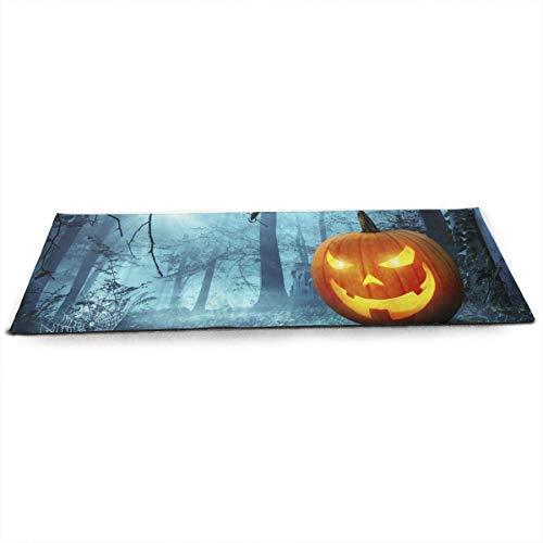 (Halloween Kürbis in Schauriger Umgebung Bei Mondschein ECO Aqua Power Kinematic Iyengar Kundini Hot Pilates Gymnastics Hatha Yoga Mat Exercise)