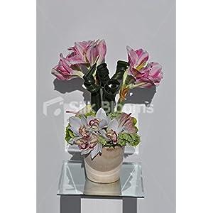 Vibrant Pink Amaryllis & Cymbidium Ochid Floral Arrangement 105