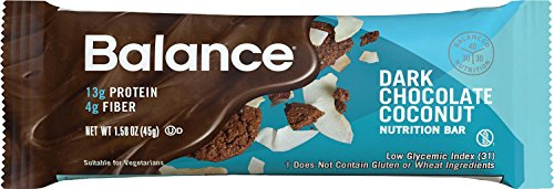 Bar Chocolate Coconut - Balance Bar Dark Chocolate Coconut, 1.58 Ounce Bars, 6 Count
