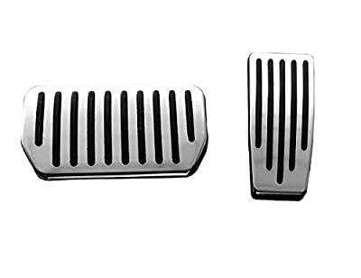 Topfit Non-Slip Performance Foot Pedal Pads Compatible Model S and Model X, Auto Aluminum Pedal Covers(A Set of 2)