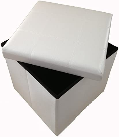 Taburete Cubo de Almacenamiento para Sentarse GMMH Original Amarillo Caja Plegable 38 x 38 x 38 cm