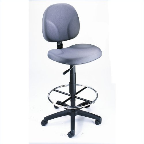 Boss Office Products B1690-GY Stand Up Fabric Drafting Stool without Arms in Grey -