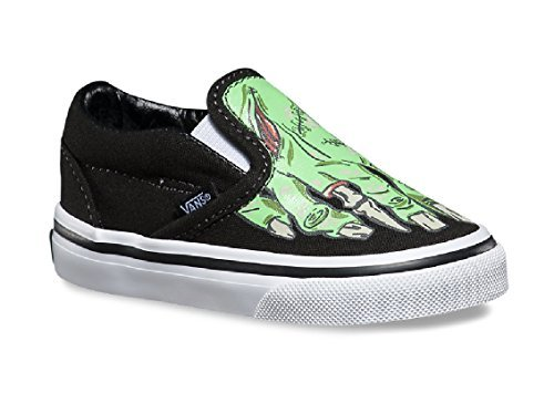 94758b0c6150 Galleon - Vans Toddlers Classic Slip-On (Glow In The Dark) Skate Shoe (5.5  Toddler M