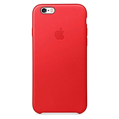 Apple Cell Phone Case for iPhone 6 & 6s Only - Retail Packaging - Leather Red (Case Apple 6 I Phone)