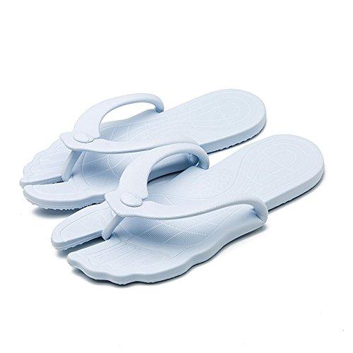 Chaussons des Pieds Plats Unisexe Hommes Bain De Chaussures D'été Bevalsa Sandales Pantoufles Intérieur Bleu antidérapant Sandales d'été Douche Massage Femme Chaussons Clair FxXTq