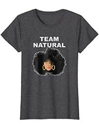 Black Natural Hair Tshirt Team Natural + Afro hair T Shirt