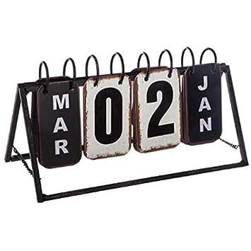 Calendrier Prix.Paris Prix Calendrier Vintage En Metal Perpetuel 27cm Noir