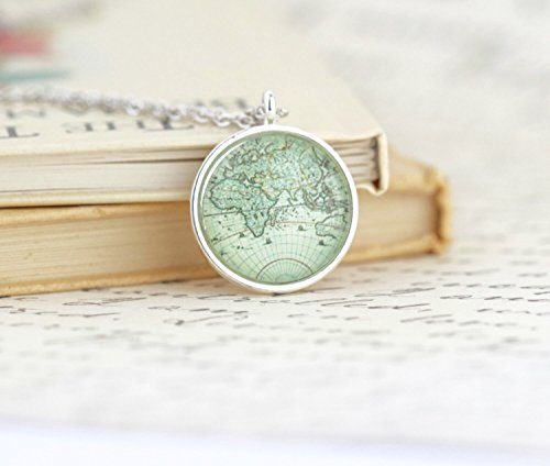 Product world the best amazon price in savemoney world map pendant necklace gumiabroncs Image collections
