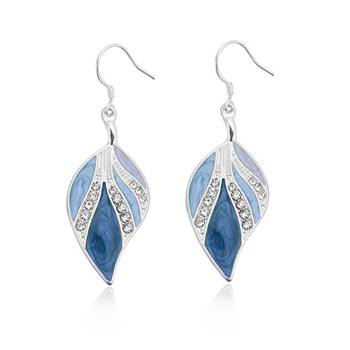 Dangle Earrings Sterling Silver Drop Earring Handmade Bohemian Leaf Earrings