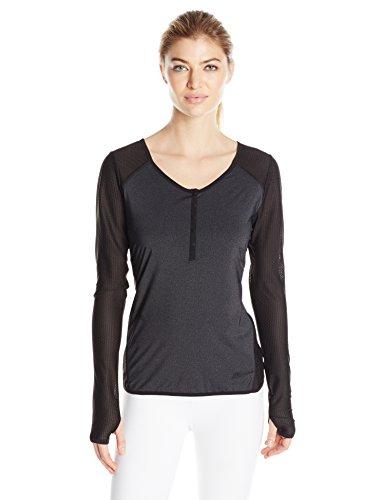 Blanc Noir Women's Long Sleeve Jersey and Mesh Henley