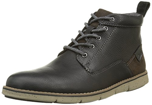 Clarks Kyston, Botines para Hombre Negro (Black Warm Lined Leather)