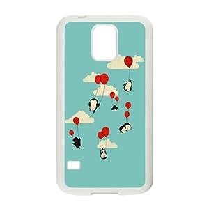 Penguin DIY Hard Case for SamSung Galaxy S5 I9600 LMc-23245 at LaiMc