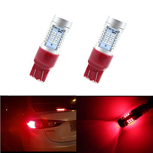 Tail Brake Light Bulb Extremely Bright 21pcs 2835SMD Chips 7440 7441 7444 7443 Red Brake Bulbs Stop Light Tail Light (Pack of 2)