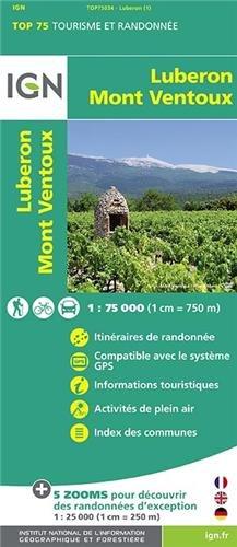 IGN 75 000 Luberon Mont Ventoux (Ign Map)