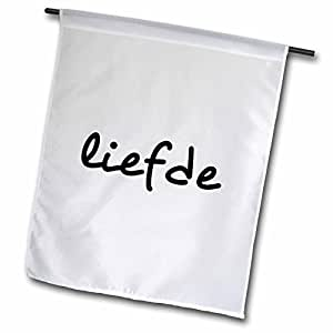 3dRose fl _ 185027_ 1liefde-word para Love en neerlandés o afrikaans-world idiomas texto jardín bandera, 12por 45,72cm