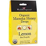 Wedderspoon Organic Manuka Honey Drops, Lemon, 4.0 Ounce
