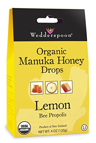 Wedderspoon Organic Manuka Honey Drops, Lemon, 4.0 Ounce