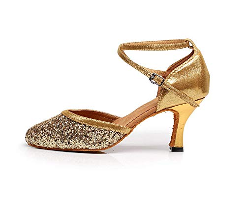 Latine uk3 De Eu33 Pour Talons Salsa Ballo Femmes Doré7 Our34 Hauts 5cm Chaussure Danse Talon Tango Et Latine Modernes Yingsssq TUY5qx