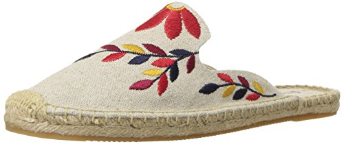 Soludos Women's Embroidered Floral Mule Sand/Red Multi 5RnMhSy
