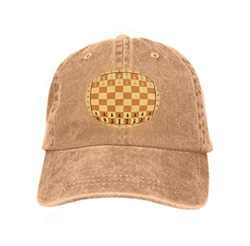 - Hip Hop Baseball Cap Adjustable Denim Jean Hat Set Chess International Day Hand Drawn Stock Ideal Sand Color