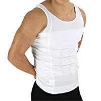 Beautyko Invisible Body Shaper Comrpession Shirt with Posture Corrective Back Support and Firming Panels, White, 9.6 Ounce
