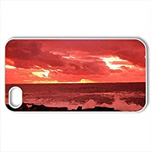 Beginning of a Storm - Case Cover for iPhone 4 and 4s (Sky Series, Watercolor style, White)