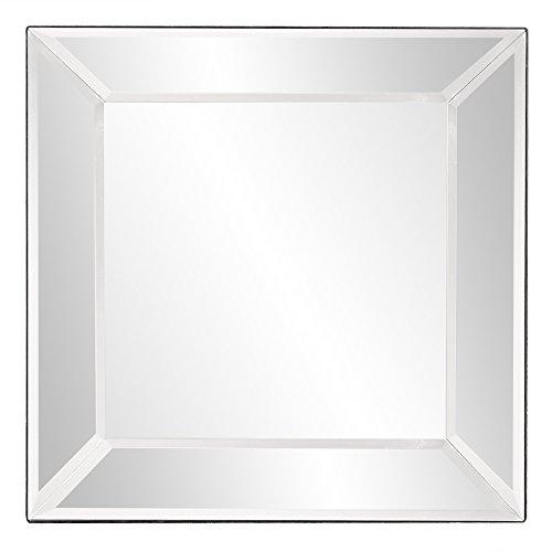 Howard Elliott Vogue Inward Square Hanging Wall Or Vanity Mirror, Mirrored Frame, -