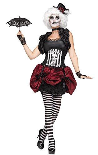 Fun World Women's Freak Show Circus Tightrope Walker Adult Costume M/L (Circus Freak Costumes)