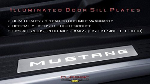CDC 2005-2014 Ford Mustang Illuminated Door Sill Plates charcoal/black 0511-7003-01a