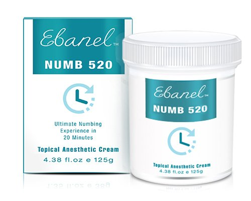 Numb 520 (4.38oz / 125g) 5% Lidocaine, Liposomal Technology for Deeper Penetration, Topical Numbing Cream, Local and Anorectal Discomfort
