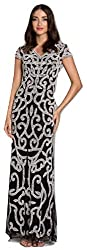 Beaded Pattern Long Dress