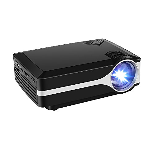 RANDEMFY Projector Mini Portable Home Video Projector 2000 Lumens Peak Brightness180'' TV Projector Support 1080P Full HD for TV Movie Game Home Entertainment with PC AV/HDMI/VGA Input by Randemfy