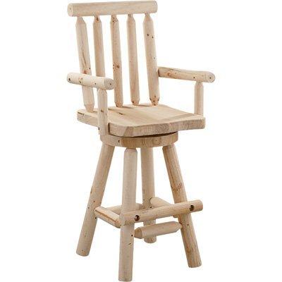Stonegate Designs Fir Log Swivel Bar (Adirondack Rustic Log Furniture)