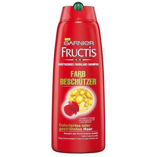 Garnier Fructis Farbbeschützer Shampoo / Haarshampoo zur intensiven Haarpflege für coloriertes Haar (mit Leinsamen-Öl und Acai-Beeren - für coloriertes oder gesträhntes Haar) 6er Pack - 250ml