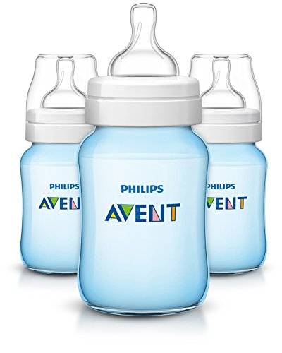 Philips Avent Classic Plus Baby Bottles, Blue, 9 Ounce (3 Pack) (Pillow Rubber Natural)