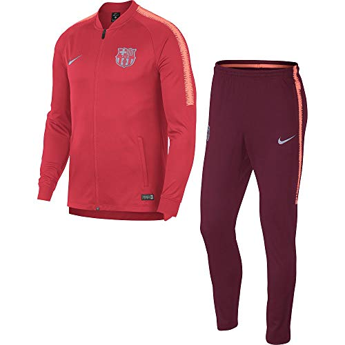 Nike Soccer Suit - Nike 2018-2019 Barcelona Squad Knit Tracksuit (Tropical Pink)