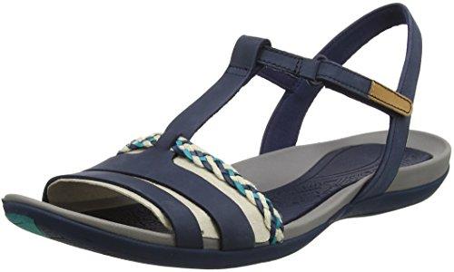 Femme Salomés navy Tealite Clarks Bleu Grace xvgwY0