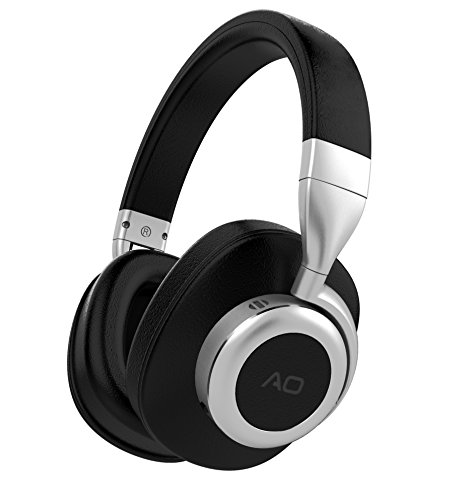 AO Bluetooth Headphones Wireless with Active Noise Cancelling Technology (Updated) – M6 (Black)