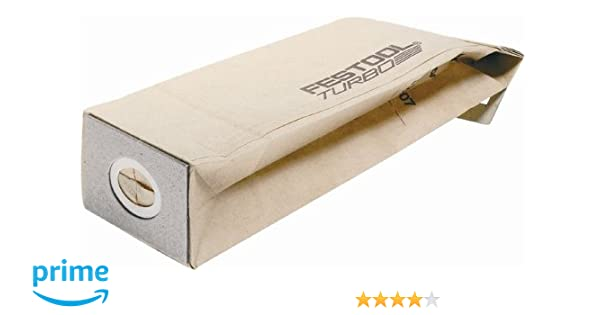 Festool 487779 Replacement Turbo Dust Bag For ETS 150 and RS 2 E Sanders, 5-pack - Vacuum And Dust Collector Bags - Amazon.com
