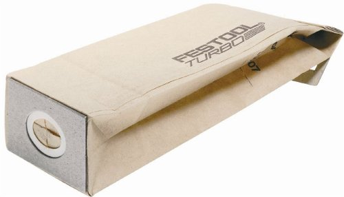 Festool 489128 Turbo Dust Bag For DTS 400, RTS 400 And ETS 125 Sanders, 5-Pack