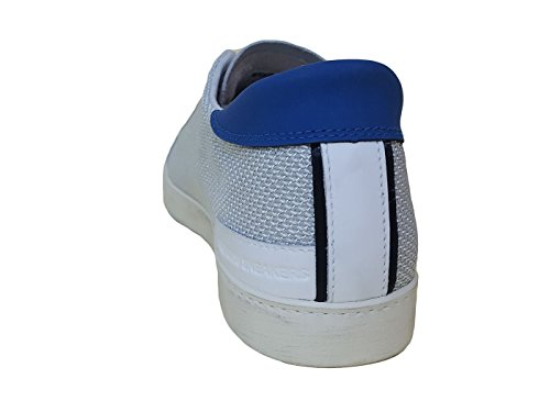 Sneaker D Argegno Bianca in Tessuto a Pelle t e Bianco Hill Low e Patar4F