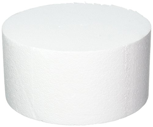 Oasis Supply 747090 Dummy Round Cake, 10'' x 5'', White by Oasis Supply