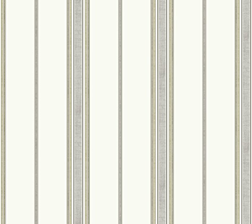 (York Wallcoverings Waverly Kids Incense Stripe Removable Wallpaper, Off White/Light Grey/Beige/Taupe)