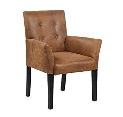 Modern Fabric Upholstery Accent Chair w/ Pine Wood Legs for Kitchen Dining Living Room