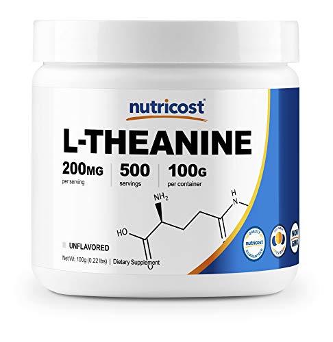 Nutricost L-Theanine Powder 100 Grams - Gluten Free & Non-GMO