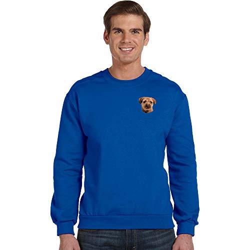 Cherrybrook Breed Embroidered Anvil Mens Crew Sweatshirt - Medium - Royal Blue - Border Terrier ()
