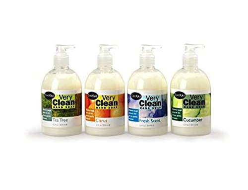 (Shikai Very Clean Hand Soap - Variety Pack - Tea Tree, Citrus, Fresh Scent, Cucumber - 12 oz | 4-Pack)